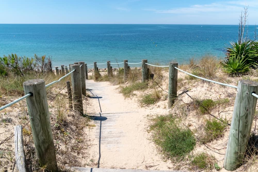 Accès à une plage de noirmoutier